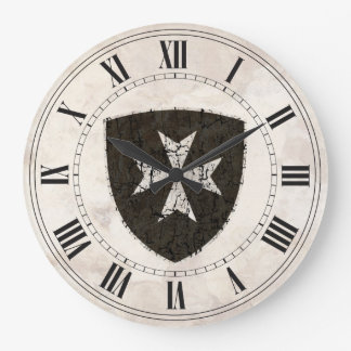 Knights Hospitaller Cross, Distressed Large Clock