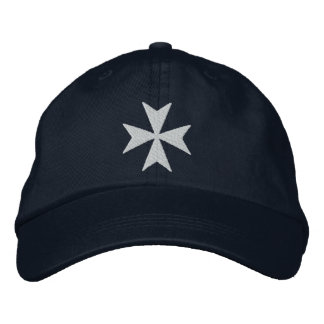 Knights Hospitaller Maltese Cross Embroidered Hat
