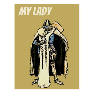 Knight's lady postcard