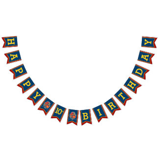 Knights medieval Happy Birthday 10th bunting flags