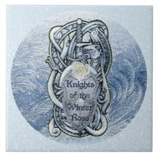 """Knights of the Winter Rose"" Ceramic-tile Tile"