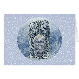 """Knights of the Winter Rose"" greeting card"