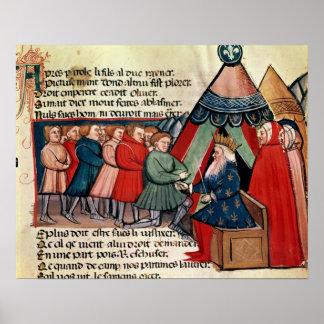 Knights pledging their allegiance poster