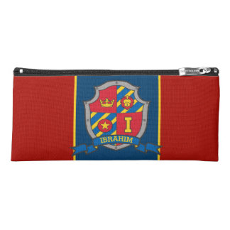 Knights shield Ibrahim name meaning red blue case Pencil Case