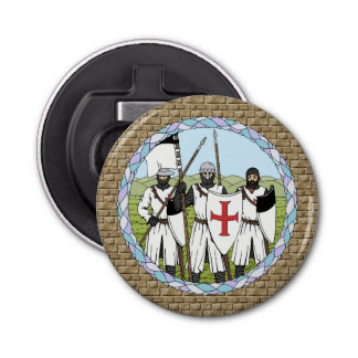 Knights Templar Button Bottle Opener