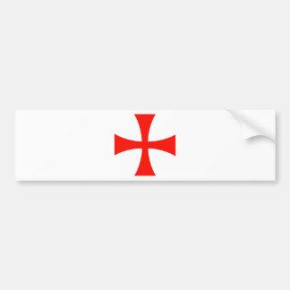 Knights_Templar_Cross Bumper Sticker