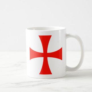 Knights Templar Cross Red Classic White Coffee Mug