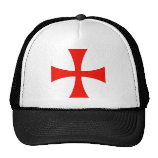 Knights Templar Cross Red Trucker Hat