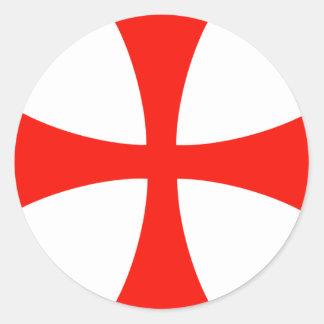 Knights_Templar_Cross Round Sticker