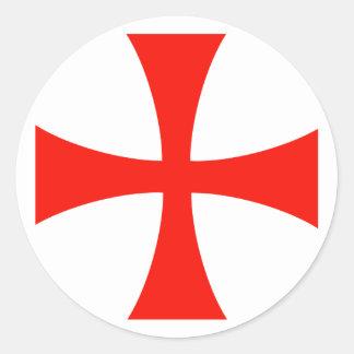 Knight's* Templar Cross Sticker