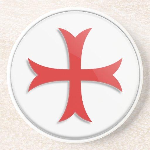 Knight's Templar Cross Symbol Coaster