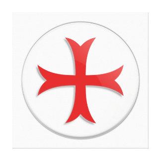 Knight's Templar Cross Symbol Stretched Canvas Print