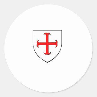 Knights Templar Crusade Shield Round Sticker