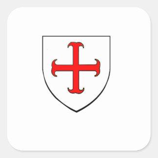 Knights Templar Crusade Shield Square Sticker