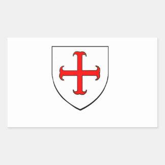 Knights Templar Crusade Shield Sticker