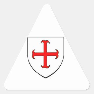 Knights Templar Crusade Shield Triangle Sticker