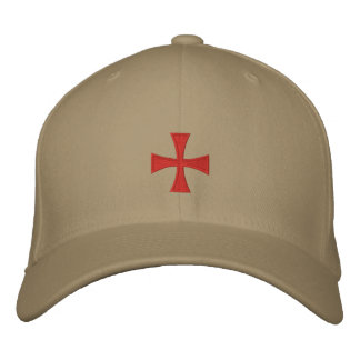 Knights Templar Embroidered Cross Hat Embroidered Hat