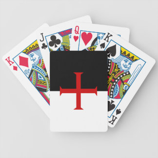 Knights Templar Flag Bicycle Playing Cards