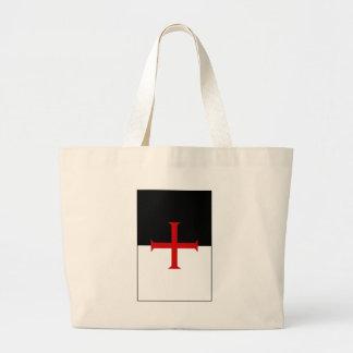 Knights Templar Flag Large Tote Bag