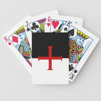 Knights Templar Flag Poker Deck