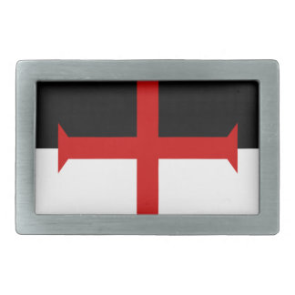 Knights Templar Flag Rectangular Belt Buckle