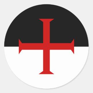 Knights Templar Flag Round Sticker