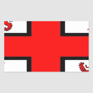KNIGHTS TEMPLAR FLAG RECTANGULAR STICKER