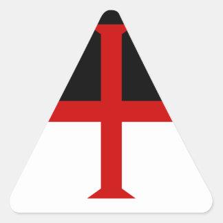 Knights Templar Flag Triangle Sticker