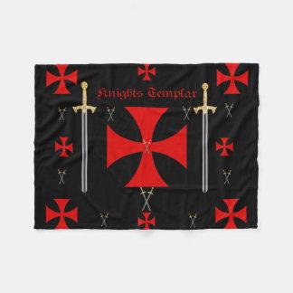 Knights templar Fleece Blanket
