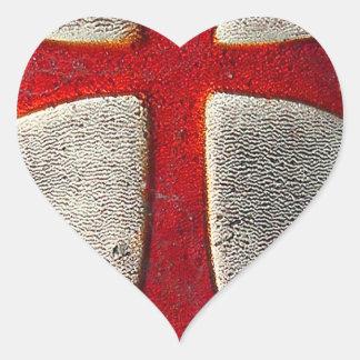 Knights Templar Heart Sticker