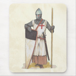 Knights Templar Medieval Warrior Mouse Pad