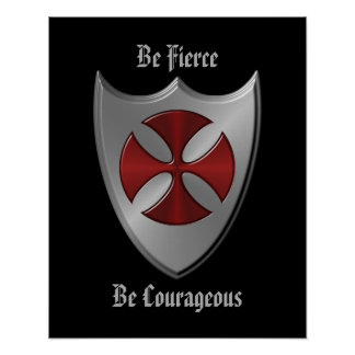 Knights Templar Message Poster