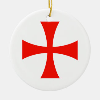 Knights Templar Double-Sided Ceramic Round Christmas Ornament