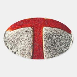 Knights Templar Oval Sticker