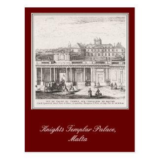 Knights Templar Palace Malta Postcard