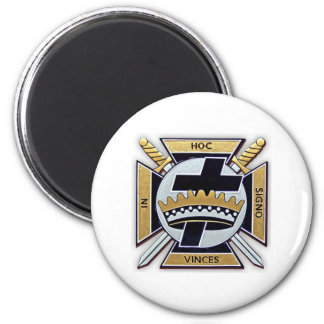 Knights Templar Products 2 Inch Round Magnet
