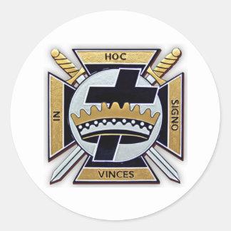 Knights Templar Products Round Sticker