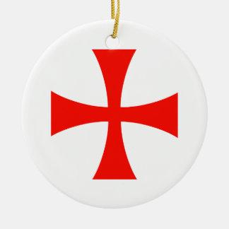 Knights Templar Round Ceramic Ornament