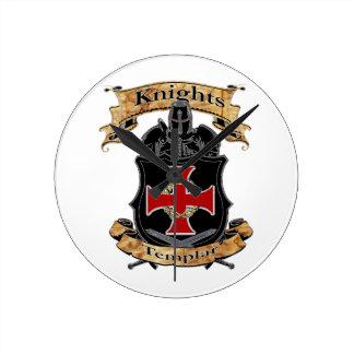 Knights Templar Round Clock