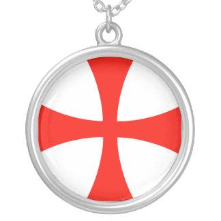 Knights Templar Round Pendant Necklace