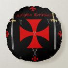 Knights Templar Round Pillow