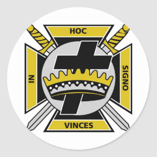 Knights Templar Round Sticker