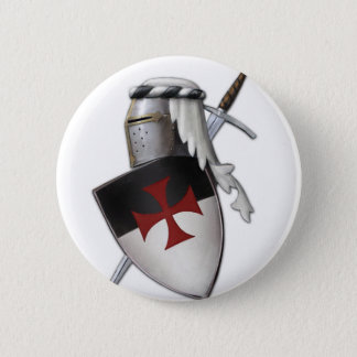 Knights Templar shield 2 Inch Round Button