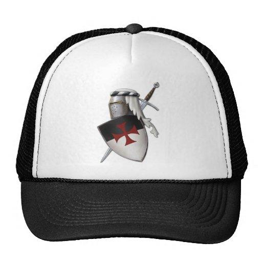 Knights Templar shield Mesh Hats