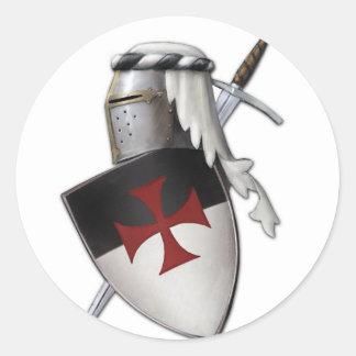 Knights Templar shield Round Sticker