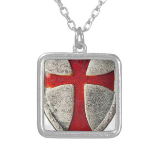 Knights Templar Silver Plated Necklace