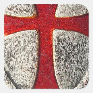 Knights Templar Square Sticker