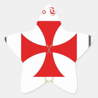 Knights Templar Star Sticker