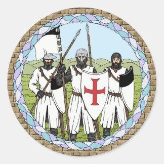 Knights Templar Stickers Round Sticker