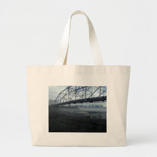 Knik River Bridge Large Tote Bag